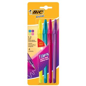 Boligrafo-Bic-Cristal-Fashion.-Pack-x-4.