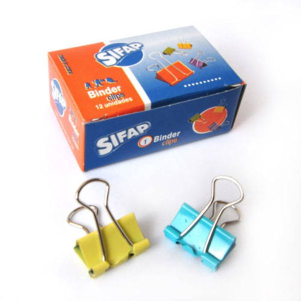 Binder-Clips-SIFAP-Colores-Surtidos---19-mm-Pack-x-12-unidades