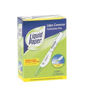 Lapices-correctores-LIQUID-PAPER---7-ml-Pack-x-12-unidades